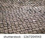 stone pattern on tile floor... | Shutterstock . vector #1267204543
