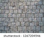 stone pattern on tile floor... | Shutterstock . vector #1267204546