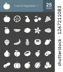 fruits   vegetables line icons   Shutterstock .eps vector #1267211083