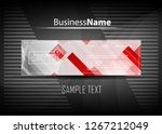 red contrast abstract...   Shutterstock .eps vector #1267212049
