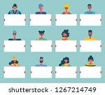 colorful vector illustration in ... | Shutterstock .eps vector #1267214749