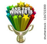 a gold trophy awarded to the... | Shutterstock . vector #126722300