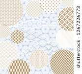 wave with japanese pattern... | Shutterstock .eps vector #1267226773