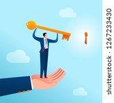 businessman get an assist to... | Shutterstock .eps vector #1267233430