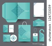 stationery design set in vector ... | Shutterstock .eps vector #126723359