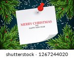 abstract holiday new year and... | Shutterstock . vector #1267244020