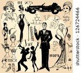 Hand Drawn Retro Women And Men...