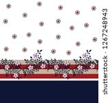 cute small seamless flowers...   Shutterstock .eps vector #1267248943