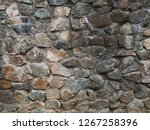 stone wall texture with cracks... | Shutterstock . vector #1267258396