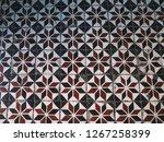 stone pattern on tile floor... | Shutterstock . vector #1267258399