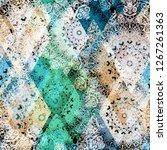 mandalas and rhombus. seamless... | Shutterstock .eps vector #1267261363