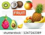 realistic natural fruits... | Shutterstock .eps vector #1267262389