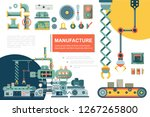 flat industrial production line ... | Shutterstock .eps vector #1267265800