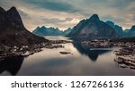scenic fjord landscape with... | Shutterstock . vector #1267266136