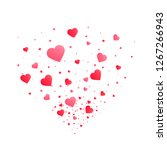 heart confetti burst isolated.... | Shutterstock .eps vector #1267266943