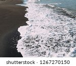 sea wave on sand beach photo... | Shutterstock . vector #1267270150