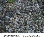 stone wall texture with cracks... | Shutterstock . vector #1267270153