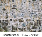 stone wall texture with cracks... | Shutterstock . vector #1267270159