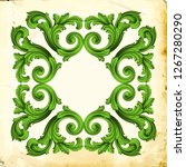 retro baroque decorations...   Shutterstock .eps vector #1267280290