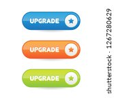 vector upgrade buttons | Shutterstock .eps vector #1267280629