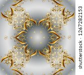 seamless classic vector golden... | Shutterstock .eps vector #1267282153
