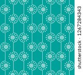seamless geometric pattern with ... | Shutterstock .eps vector #1267284343