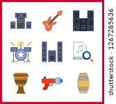 bass icon. sound system and... | Shutterstock .eps vector #1267285636