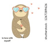 Funny Cute Sloth In Glasses....