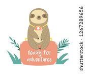 funny sloth in jungles sitting... | Shutterstock .eps vector #1267289656