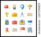 voyage icon. motorhome and...   Shutterstock .eps vector #1267290829