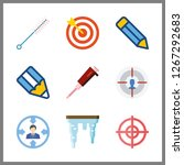 sharp icon. needle and target... | Shutterstock .eps vector #1267292683