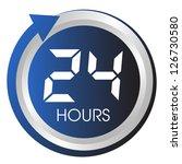 twenty four hours button. | Shutterstock .eps vector #126730580