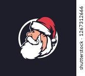 santa claus face icon. santa...   Shutterstock .eps vector #1267312666