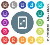 mobile pinch open gesture flat... | Shutterstock .eps vector #1267318309