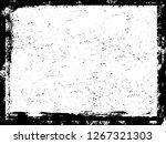 grunge frame.grunge paint frame....   Shutterstock . vector #1267321303