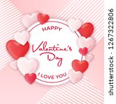 valentine's day design with... | Shutterstock .eps vector #1267322806