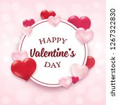valentine's day design with... | Shutterstock .eps vector #1267322830