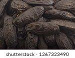 fresh aroma tonka beans... | Shutterstock . vector #1267323490
