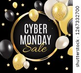 cyber monday sale background ... | Shutterstock . vector #1267332700