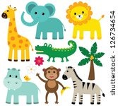 Stock vector vector animals set 126734654