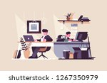 creative office co working... | Shutterstock .eps vector #1267350979