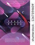 vector illustration of space ... | Shutterstock .eps vector #1267354609