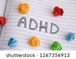 adhd. abbreviation adhd on...   Shutterstock . vector #1267356913