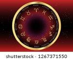 set icon of zodiac  golden... | Shutterstock .eps vector #1267371550