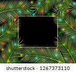 holiday background. tropical... | Shutterstock . vector #1267373110