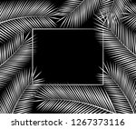 silver tropical card for your... | Shutterstock . vector #1267373116