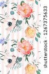 floral fashion pattern | Shutterstock .eps vector #1267375633