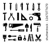 home repair tools icon.... | Shutterstock .eps vector #1267377670