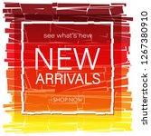 new arrivals design template. | Shutterstock .eps vector #1267380910