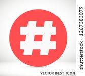 hashtag  vector icon 10 eps   Shutterstock .eps vector #1267383079